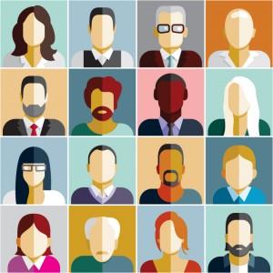 Image de 16 avatars représentant différents employés