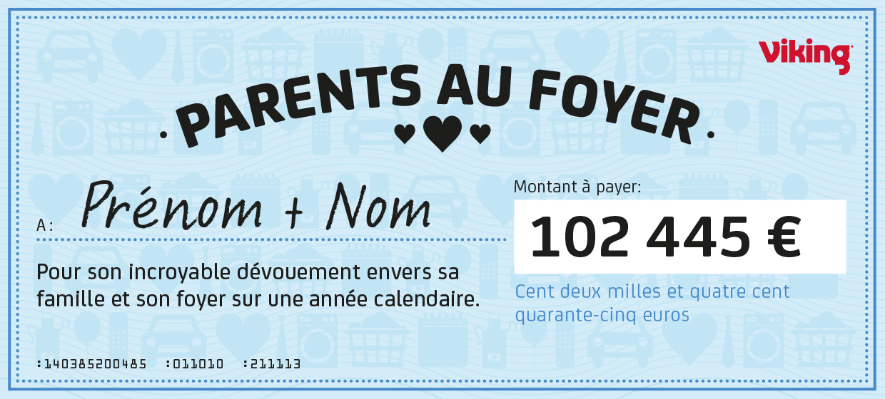 Parents au foyer chèque